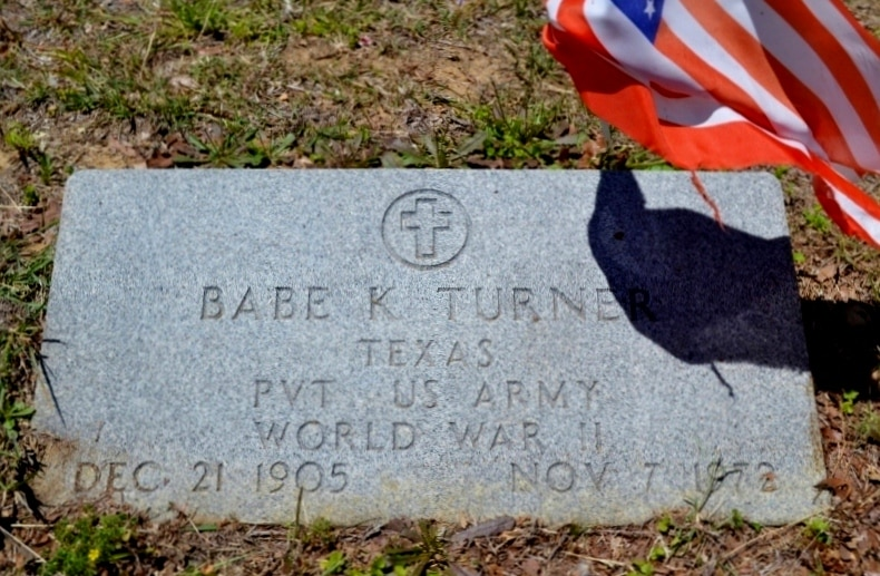 "Babe Kyro Lemon ""Black Ace"" Turner's gravestone RIP"